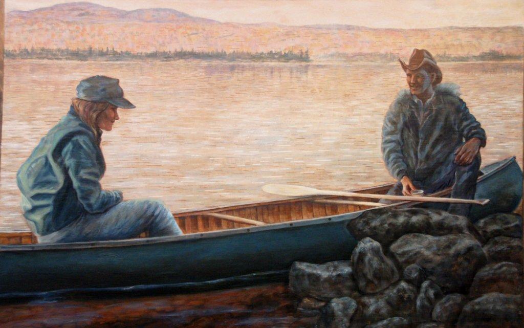 """Acrylic on Birchbark    32""""x48"""" 2012"""